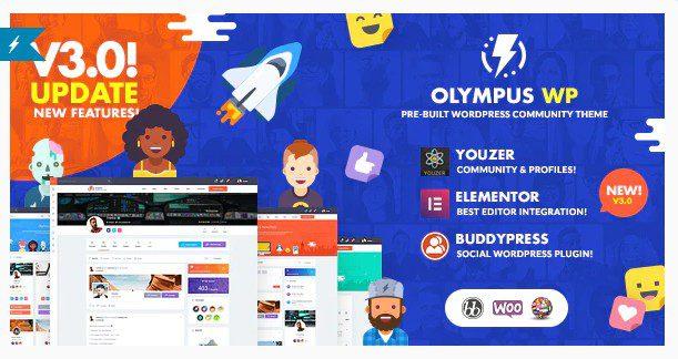 Olympus v3.30 - Powerful BuddyPress Theme for Social Networking