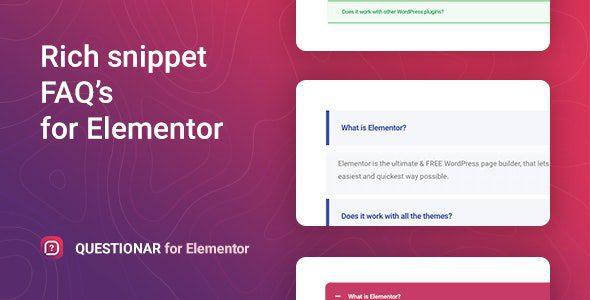 Questionar v1.1.2 – FAQ Accordions for Elementor