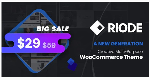 Riode v1.1.0 - Multi-Purpose WooCommerce Theme NULLED