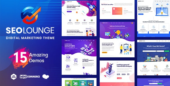 SEOLounge v3.0.2 - SEO Agency WordPress Theme NULLED