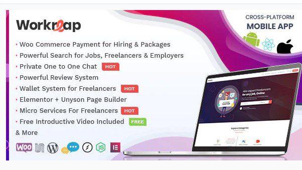 Workreap v2.1.5 - Freelance Marketplace WordPress Theme