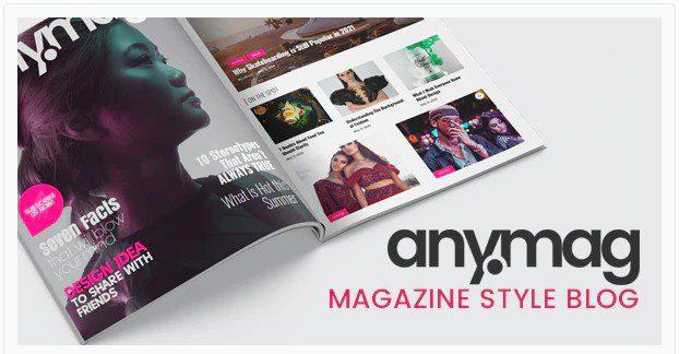 Anymag - блог WordPress в стиле журнала