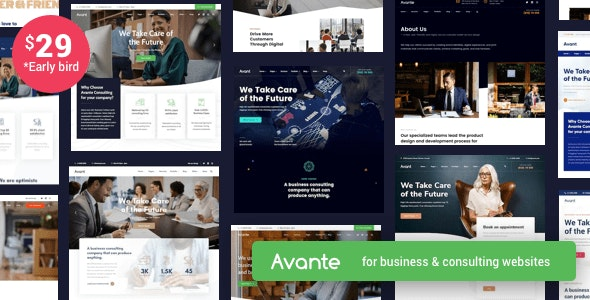 Avante v2.4 - бизнес-консалтинг WordPress