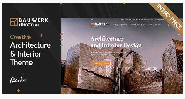 Bauwerk v1.0 - Interior Design & Architecture WordPress Theme