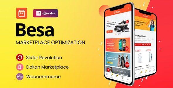 Besa  - тема WooCommerce на Elementor для торговой площадки