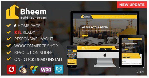 Bheem v1.6 - Construction Industry Agency WordPress Theme with RTL Read