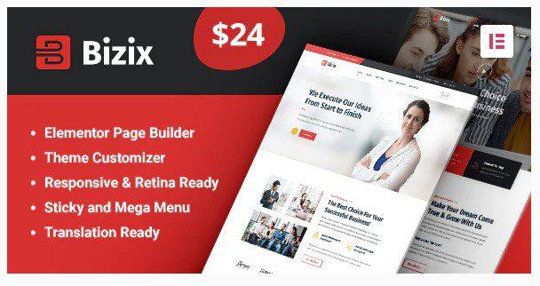 Bizix v2.0.2 - Corporate and Business WordPress Theme