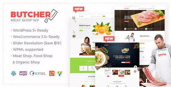 Butcher v2.23 - Meat, Organic Shop Woocommerce Theme - WooCommerce тема мясного магазина