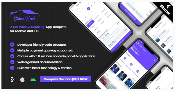 Car Wash Booking System with mobile apps android | Ios | Flutter v2.0.0 - Система бронирования автомойки с мобильными приложениями android