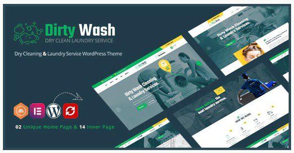 DirtyWash v1.0.1 – WordPress тема  для химчистки и прачечной