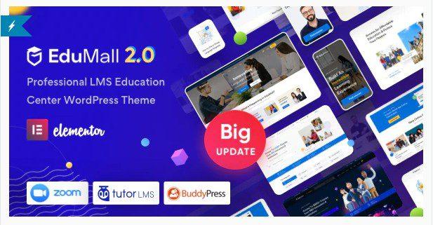 EduMall - тема WordPress для профессионального образовательного центра LMS