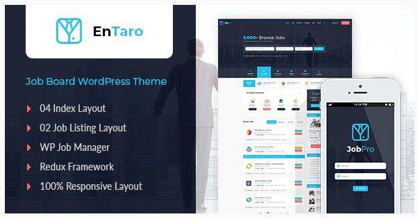 Entaro v3.19 - WordPress тема для портала вакансий
