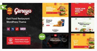 Gloreya — Тема WooCommerce для ресторана быстрого питания и доставки