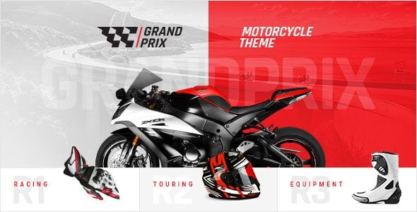 GrandPrix v1.3 - тема WordPress для мотоциклов