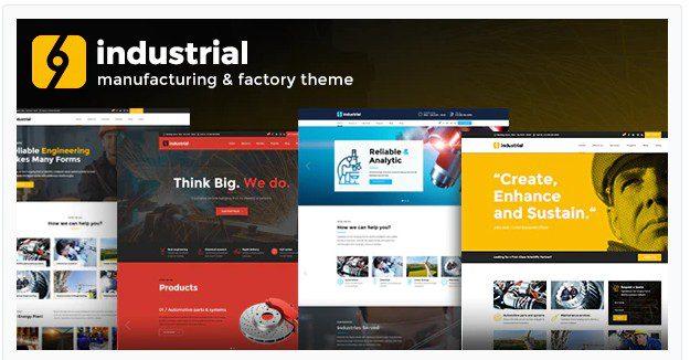 Industrial v1.4.2 - тема WordPress для промышленных предприятий