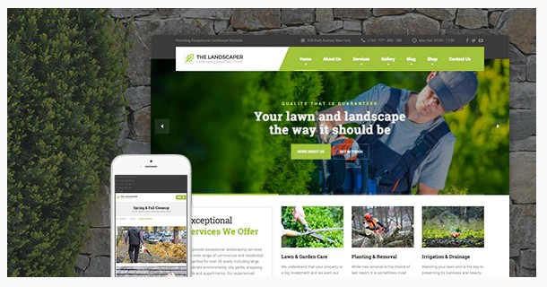 The Landscaper v2.6.1 - Lawn & Landscaping WP Theme