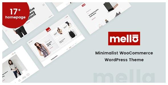 Mella - минималистичная тема WordPress для Ajax WooCommerce