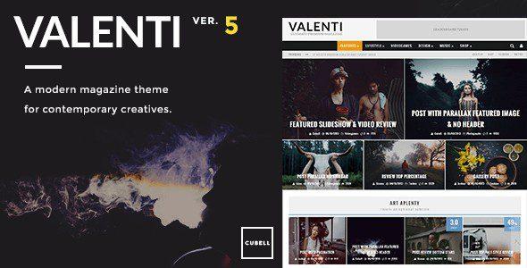 Valenti v5.6.3.4 - WordPress HD Review Magazine News Theme