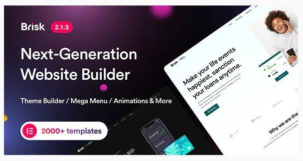 Brisk - многоцелевая WordPress тема на Elementor