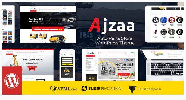 Ajzaa v2.9 - WordPress тема  для магазина автозапчастей