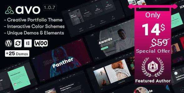 Avo v1.1.3 - Creative Portfolio & Agency WordPress Theme