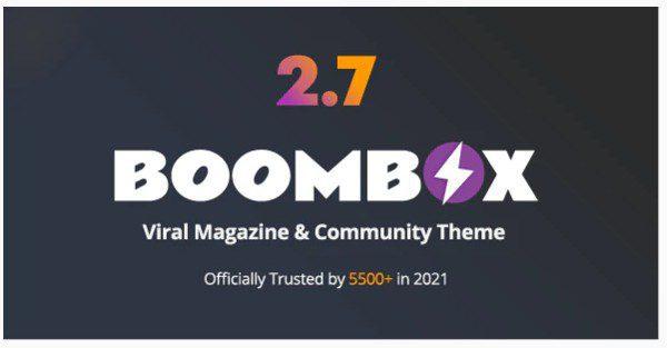 BoomBox v2.7.9 - WordPress тема для вирусного контента