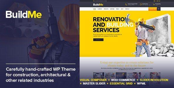 BuildMe v4.8 - WP тема для строительства и архитектуры