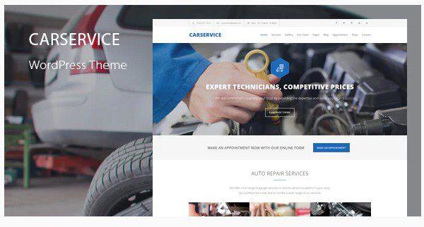 Car Service v6.4 - WordPress тема механика автосервиса