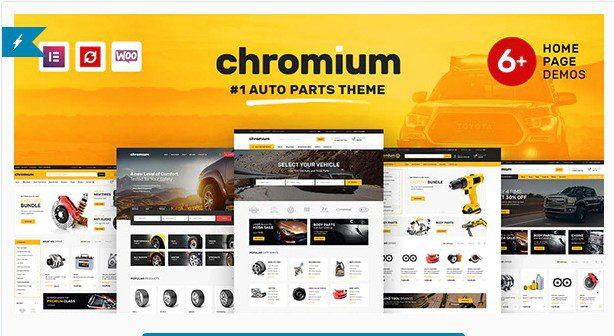 Chromium v1.3.25 - WordPress тема WooCommerce для магазина автозапчастей
