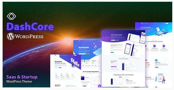 DashCore - тема WordPress для стартапов и программного обеспечения