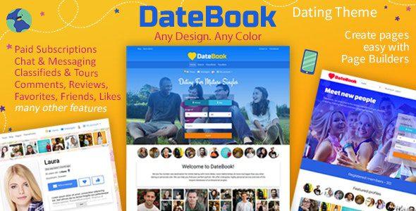 DateBook v4.5.9 - тема WordPress для знакомств