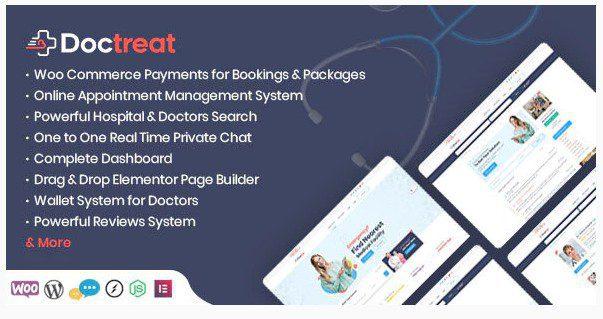 Doctreat v1.4.0 - WordPress тема для справочника врачей