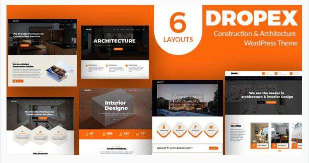 Dropex v1.0 - тема WordPress по архитектуре