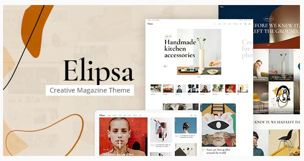 Elipsa v1.2 - тема для творческого журнала, блога.
