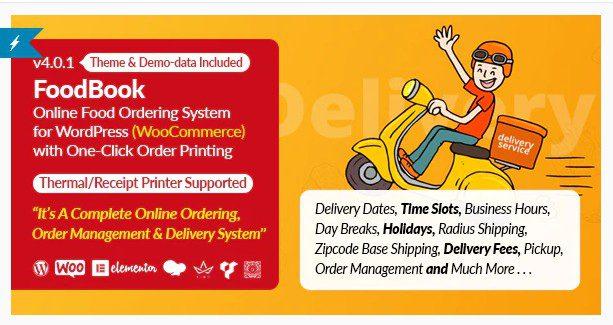 FoodBook | Система онлайн-заказа и доставки еды для WordPress с печатью заказа в один клик