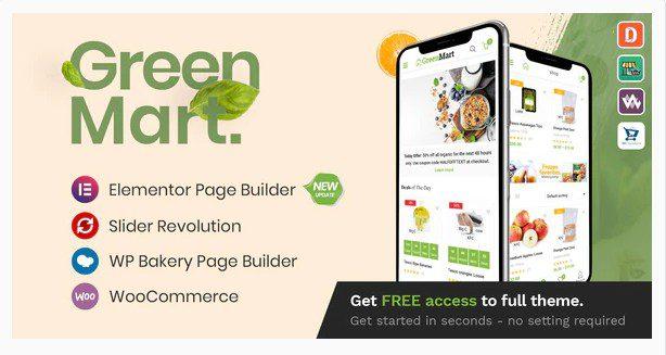 GreenMart v3.1.0 - WordPress тема WooCommerce для органических продуктов и продуктов питания