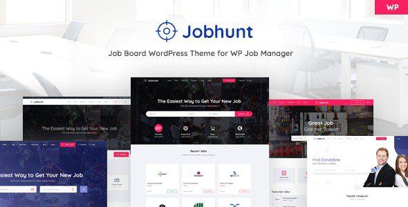 Jobhunt v1.2.7 - Job Board theme for WP Job Manager - WordPress тема для доски объявлений поиска вакансий