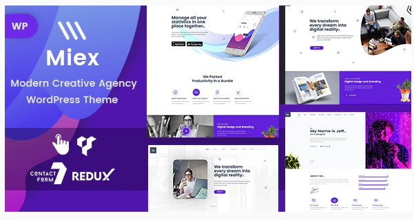 Miex v1.0 - WordPress тема Креативного агентства