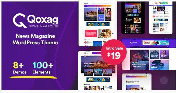 Qoxag v1.0.6 - тема для новостного журнала WordPress