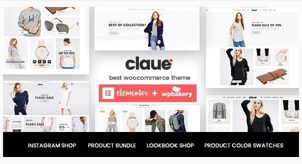 Claue v2.1.4 - Чистая, минимальная тема на Elementor для WooCommerce