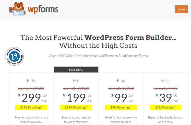 WPForms PRO + Add-ons - Плагин контактной формы