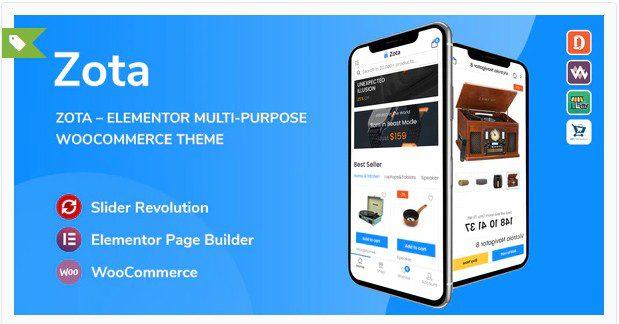 Zota - многоцелевая тема WooCommerce на Elementor