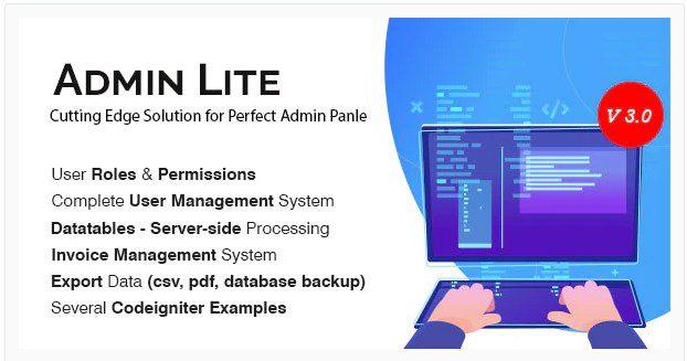 Admin Lite v3.0 - админ панель PHP + управление пользователями