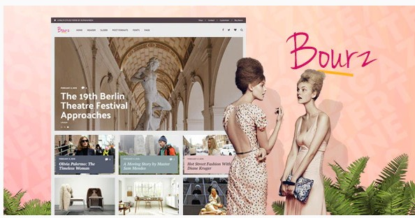 Bourz - wordpress тема для блога о жизни, развлечениях и моде