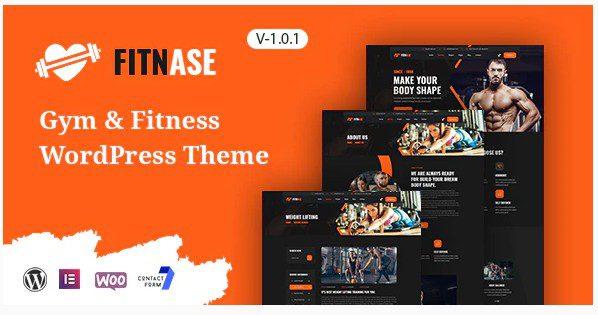 Fitnase - WordPress тема для спортзала и фитнеса