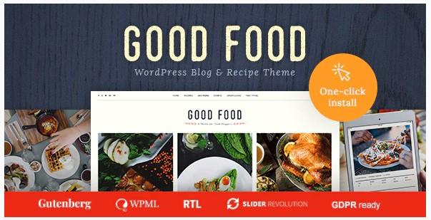 Good Food - Журнал рецептов и тема для блога о кулинарии