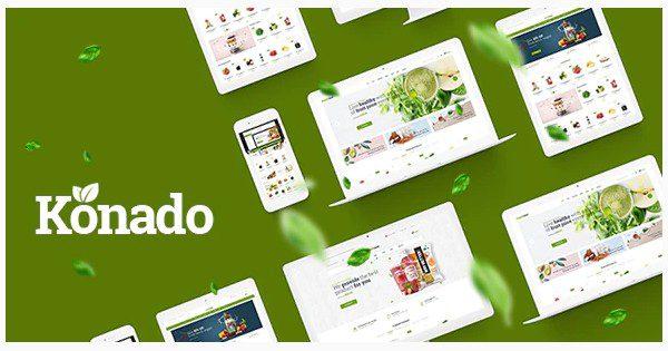 Konado - WooCommerce тема органических, натуральных продуктов