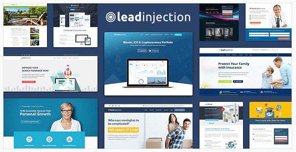 Leadinjection - Тема Лендинг Пейдж на Wordpress