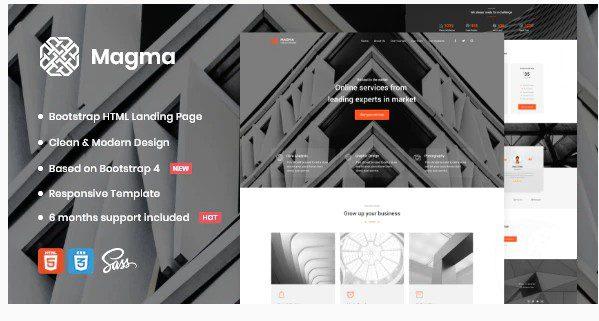 Magma - шаблон целевой страницы для бизнеса