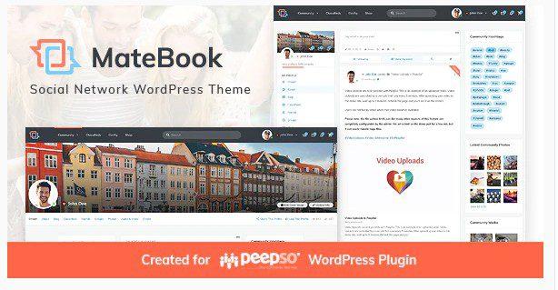 Matebook - WordPress тема для социальной сети